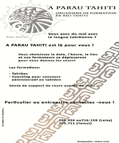 Communique De A Parau Tahiti Moorea